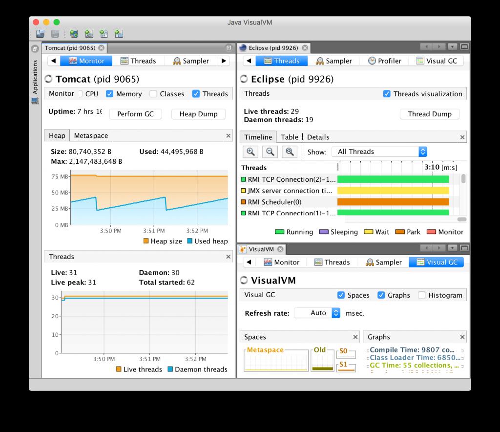 VisualVM - Monitoramento por Gráficos