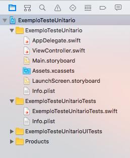 hierarquia de pastas do projeto