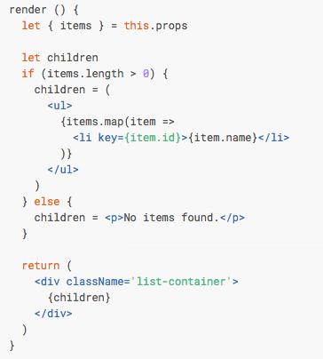 Exemplo de JSX com React